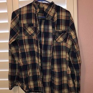 White red and blue flannel